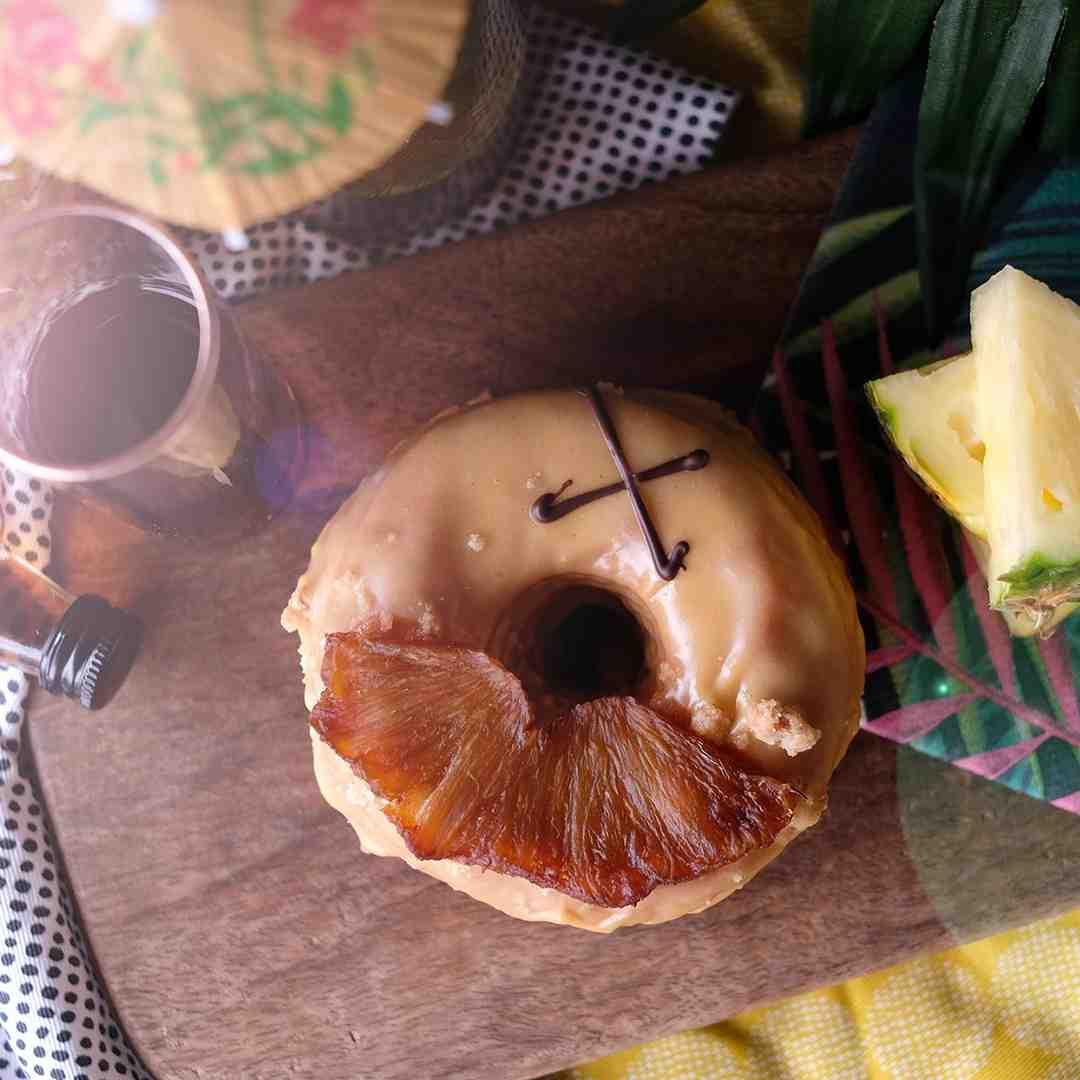 Vegan Rum Pineapple Doughnut