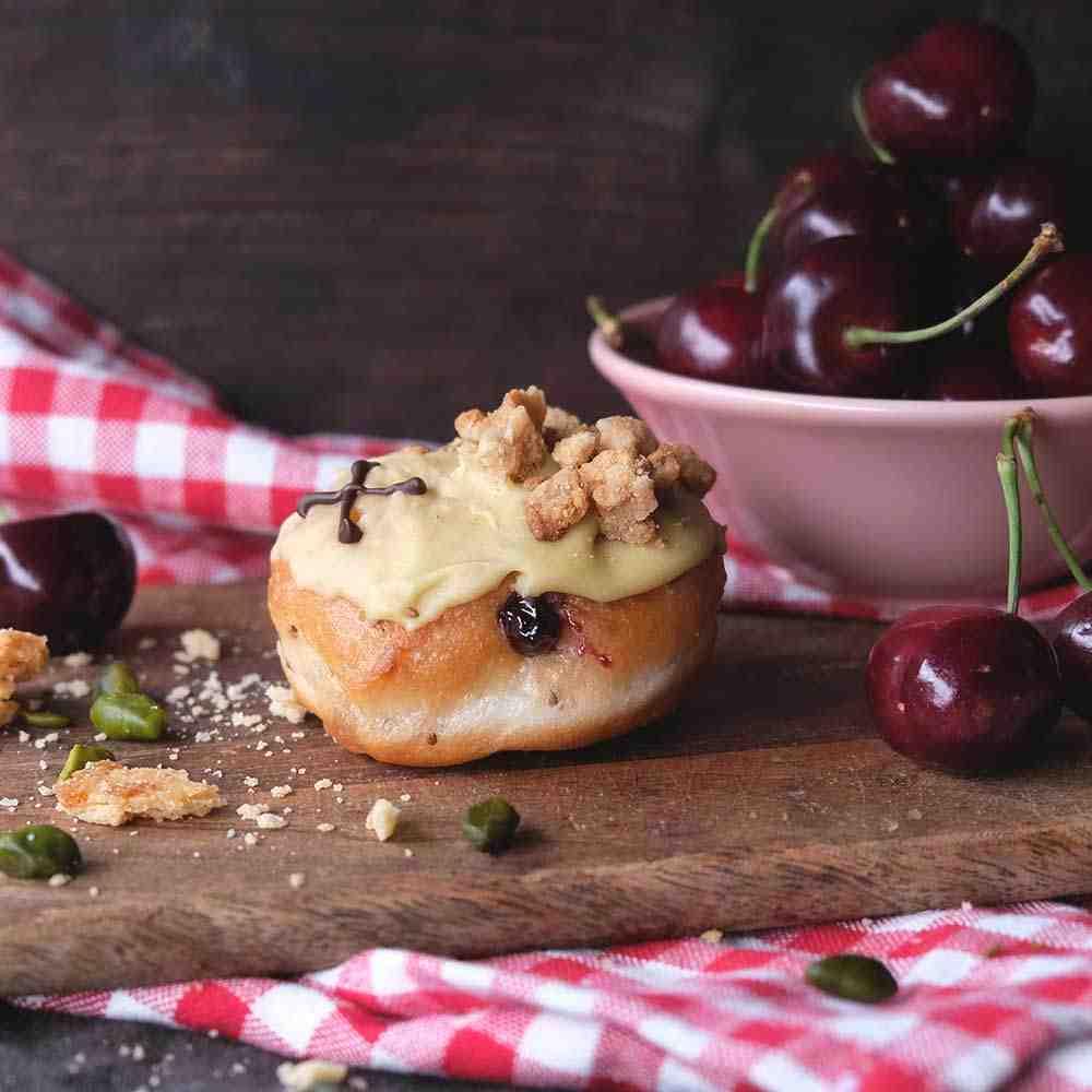 Sour Cherry & Pistachio vegan dough bite