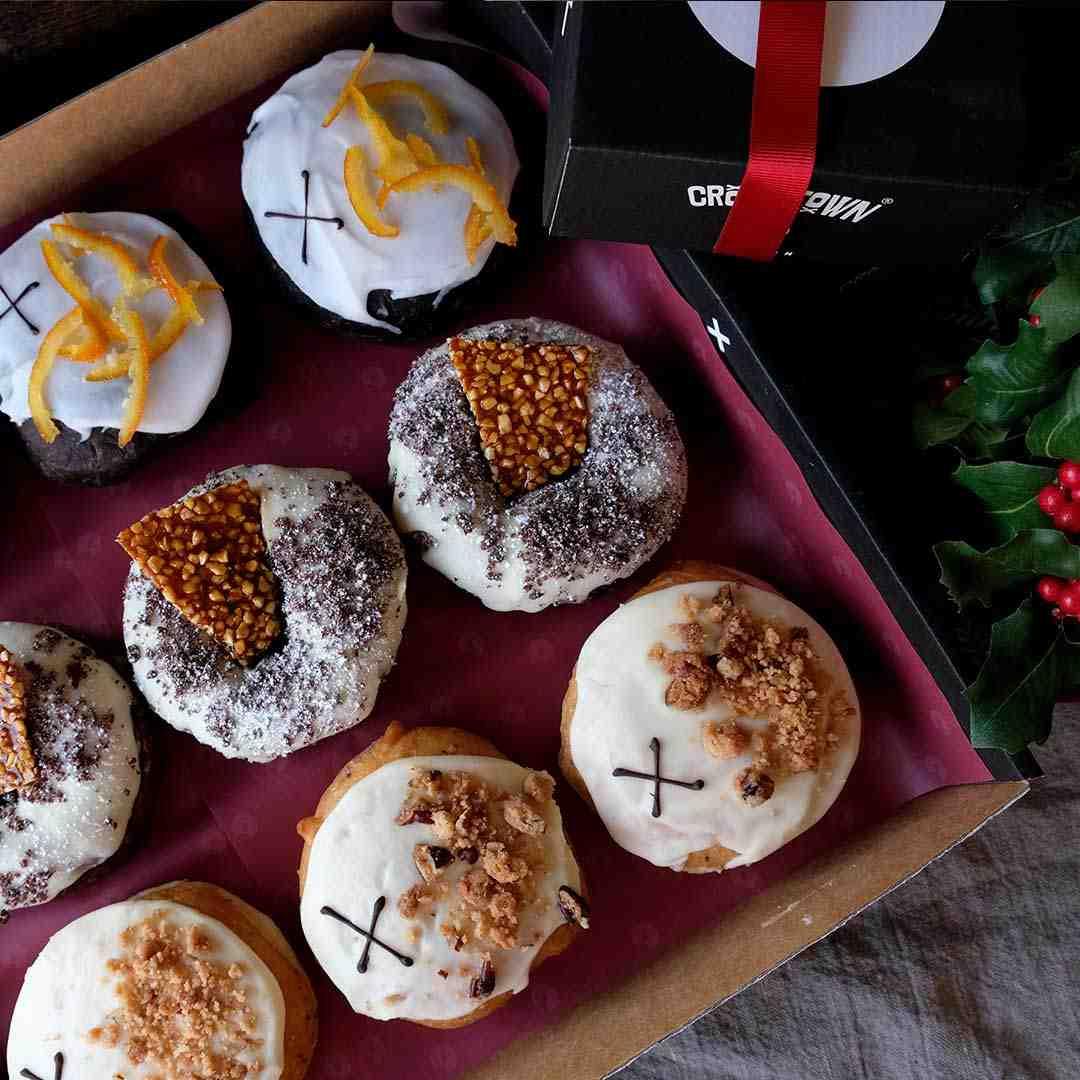 Christmas Doughnut Selection 2019