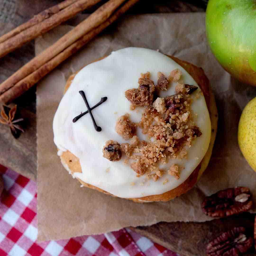 Vegan Winter Fruit Crumble Doughnut by Crosstown