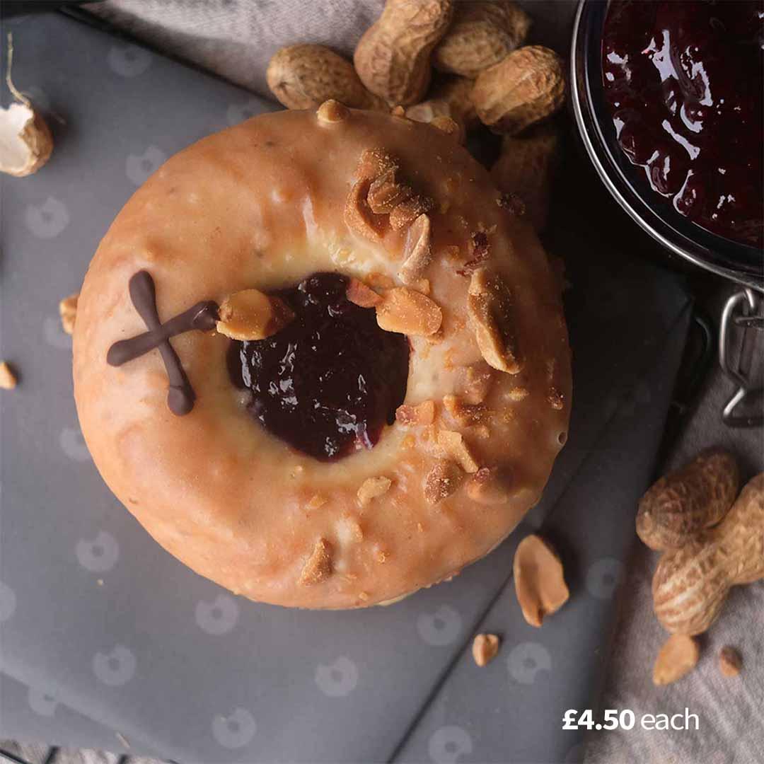 Peanut Butter & Blackcurrant Compote (ve)