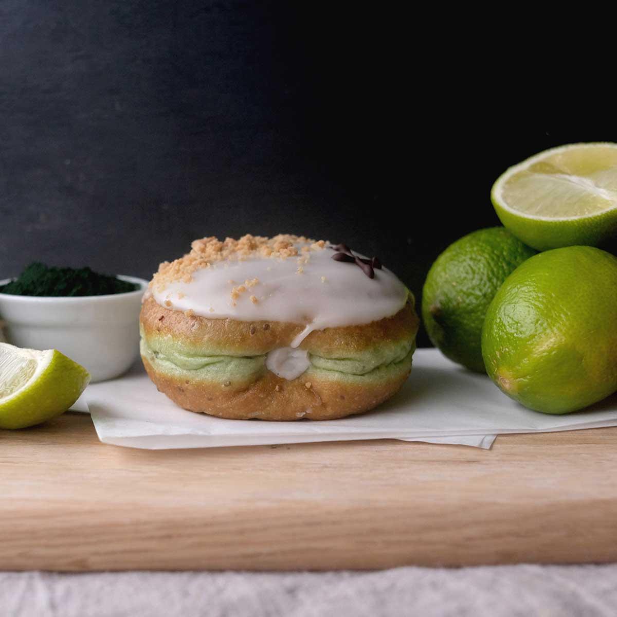 Vegan Coconut Lime Doughnut