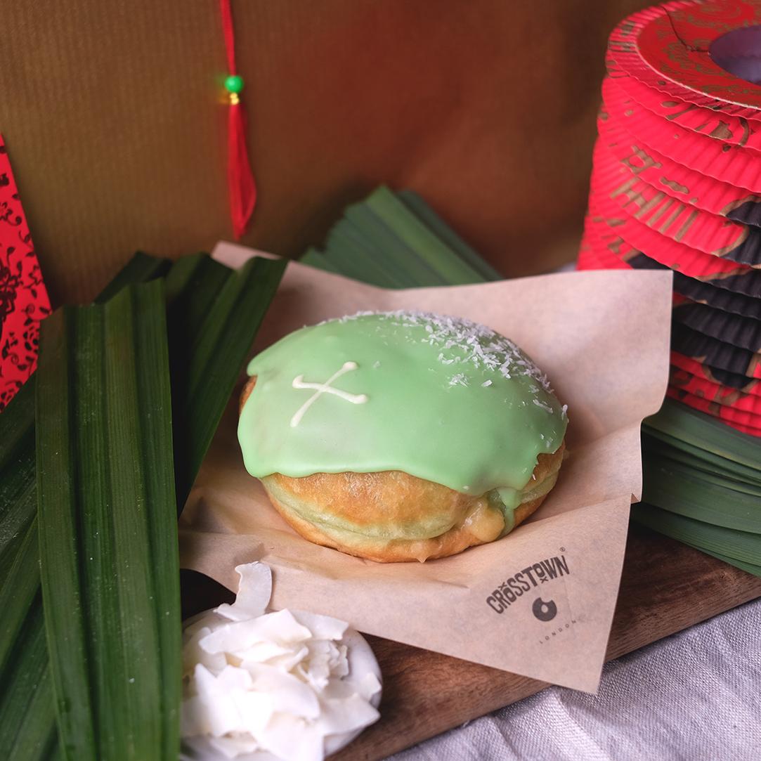 Chinese New Year Pandan Doughnut