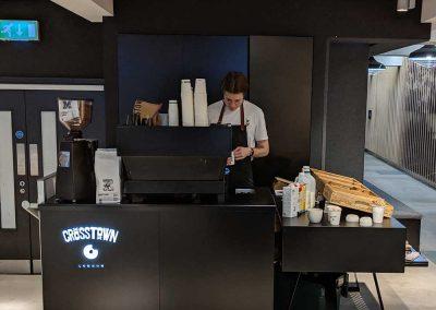 Doughnut and coffee stall