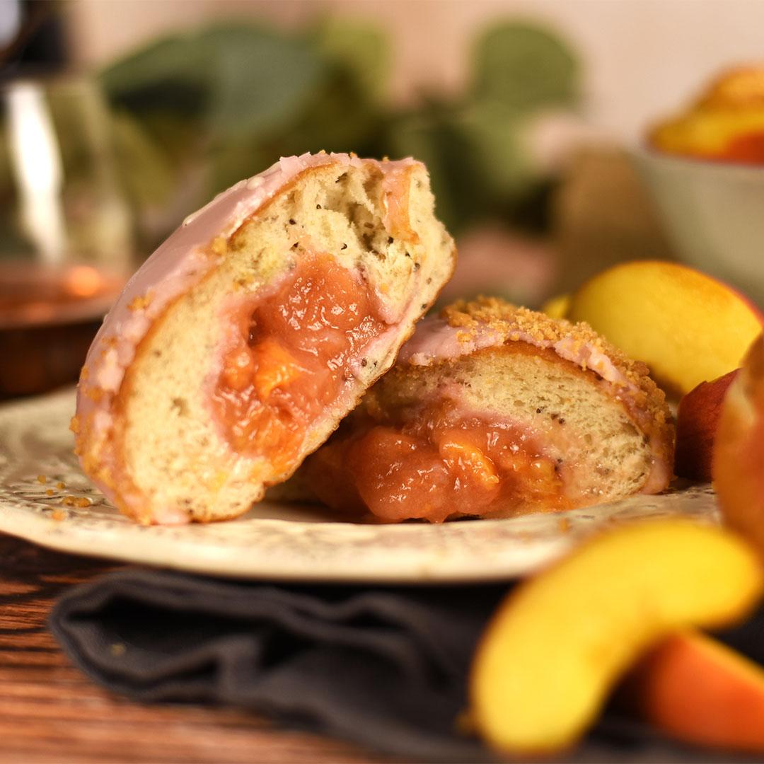 Peach and English Sparkling Rosé Doughnuts Crosstown 3